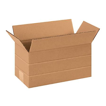 "Office Depot® Brand Multi-Depth Corrugated Cartons, 6"" x 12"" x 6"", Kraft, Pack Of 25"