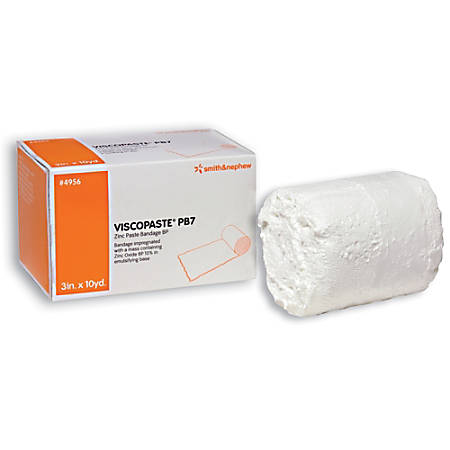 "Smith & Nephew Viscopaste® PB7 Zinc Paste Bandage, 3"" x 10 Yd., Pack Of 12"