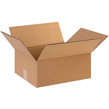 "Office Depot® Brand Flat Corrugated Boxes, 12""L x 10""W x 5""H, Kraft, Pack Of 25"