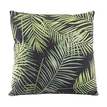 Zuo Modern Tropical Pillow, Black/Green