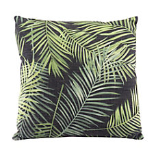 Zuo Modern Tropical Pillow BlackGreen