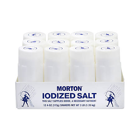 Morton® Restaurant-Style Iodized Salt Shakers, Pack Of 12 Shakers