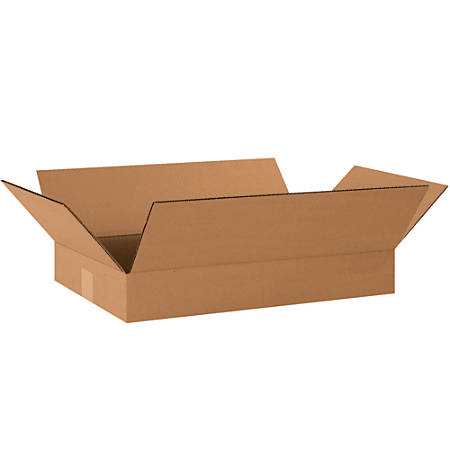 "Office Depot® Brand Corrugated Boxes, Flat, 3""H x 12""W x 20""D, Kraft, Pack Of 25"