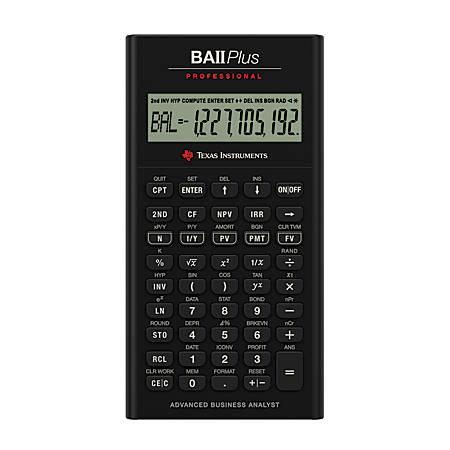 Texas Instruments® BA II Plus Professional Calculator
