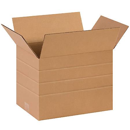 "Office Depot® Brand Multi-Depth Corrugated Cartons, 10"" x 14"" x 10"", Kraft, Pack Of 25"