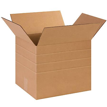 "Office Depot® Brand Multi-Depth Corrugated Cartons, 12"" x 14"" x 12"", Kraft, Pack Of 25"