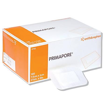 "Smith & Nephew Primapore® Wound Dressing Pads, 2"" x 3"", Pack Of 100"