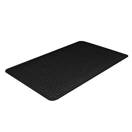 "Crown Industrial Deck Plate Antifatigue Mat, 24"" x 36"", Black"