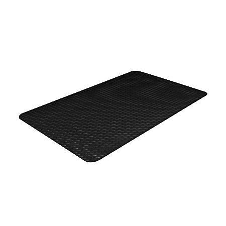 "Crown Industrial Deck Plate Antifatigue Mat, 36"" x 60"", Black"