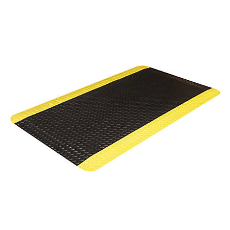 "Crown Industrial Deck Plate Antifatigue Mat, 36"" x 60"", Black/Yellow"