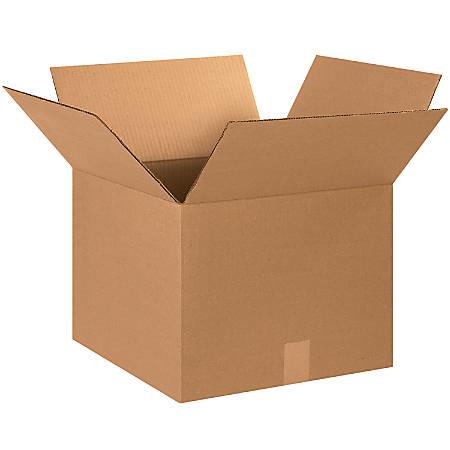 "Office Depot® Brand Corrugated Cartons, 15"" x 15"" x 12"", Kraft, Pack Of 25"