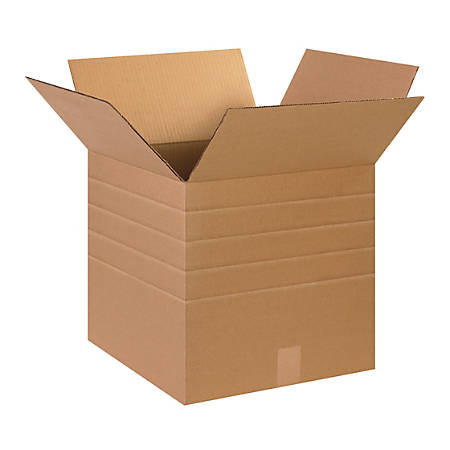 "Office Depot® Brand Multi-Depth Corrugated Cartons, 15"" x 15"" x 15"", Kraft, Pack Of 25"