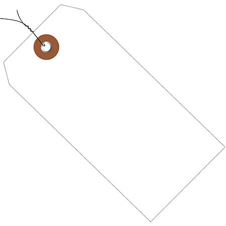 """Office Depot® Brand Prewired Plastic Shipping Tags, 6 1/4"""" x 3 1/8"""", White, Case Of 100"""