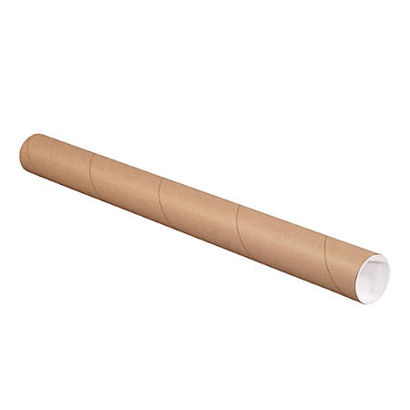 """Office Depot® Brand Mailing Tubes With Caps, 2"""" x 24"""", Kraft, Case Of 6 Tubes"""