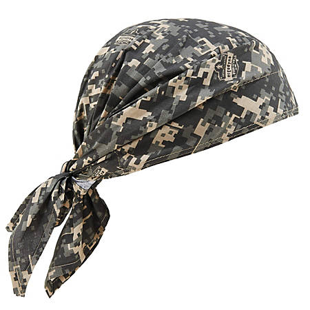Ergodyne Chill-Its 6710 Evaporative Cooling Triangle Hats, Camo, Case Of 24 Hats