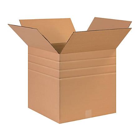 "Office Depot® Brand Multi-Depth Corrugated Cartons, 17"" x 17"" x 17"", Kraft, Pack Of 25"