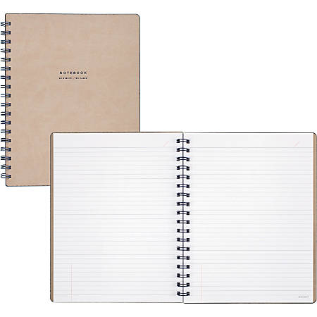 "At-A-Glance Signature Collection Medium Meeting Book - 80 Sheets - Twin Wirebound - Ruled - 7 7/8"" x 9 5/8"" - 1Each"