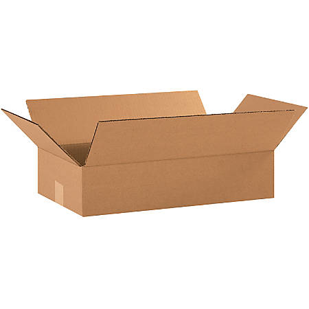 "Office Depot® Brand Corrugated Cartons, 18"" x 10"" x 4"", Kraft, Pack Of 25"