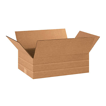 "Office Depot® Brand Multi-Depth Corrugated Cartons, 18"" x 12"" x 6"", Scored 4"", 2"", Kraft, Pack Of 25"