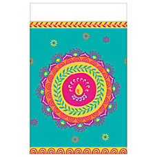 Amscan Diwali Plastic Table Cover 54