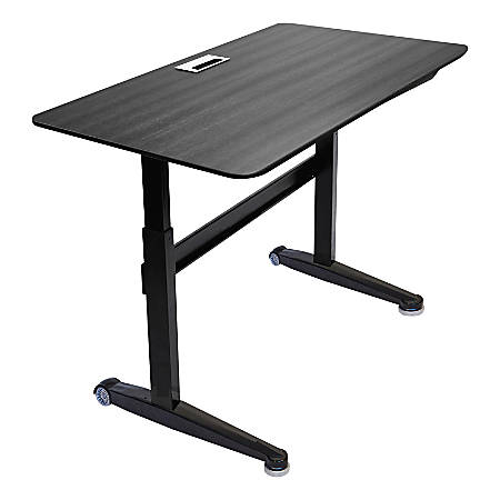 "Iceberg Mobile Sit-Stand Desk, 59"" x 29"", Black"