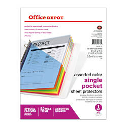Office Depot Brand Color Binder Pockets