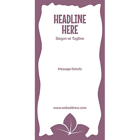 Custom Vertical Display Banner, Purple Leaves