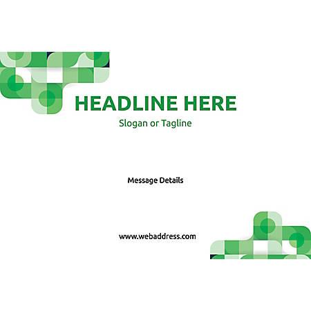 Custom Floor Decal, Horizontal, Green Abstract