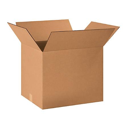 "Office Depot® Brand Corrugated Cartons, 20"" x 16"" x 16"", Kraft, Pack Of 15"