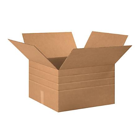 "Office Depot® Brand Multi-Depth Corrugated Cartons, 20"" x 20"" x 12"", Scored 10"", 8"", 6"", Kraft, Pack Of 15"