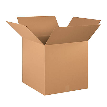 "Office Depot® Brand Heavy-Duty Corrugated Cartons, 20"" x 20"" x 20"", Kraft, Pack Of 10"