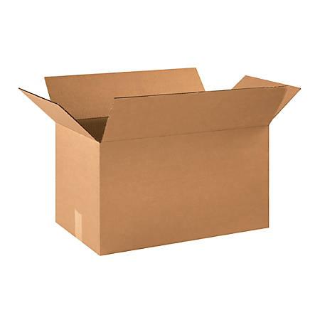 "Office Depot® Brand Corrugated Cartons, 21"" x 12"" x 12"", Kraft, Pack Of 20"