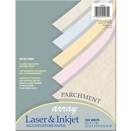 "Pacon® Parchment Paper, Letter Size (8 1/2"" x 11""), Assorted Colors, Ream Of 500 Sheets"