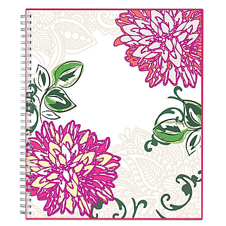 "Blue Sky™ Monthly Planner, 8"" x 10"", 50% Recycled, Dahlia, January to December 2018 (101711)"