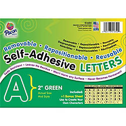 Pacon Self Adhesive Letters 2 Green