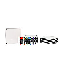 McSquares With Dry Erase Rolling Easel