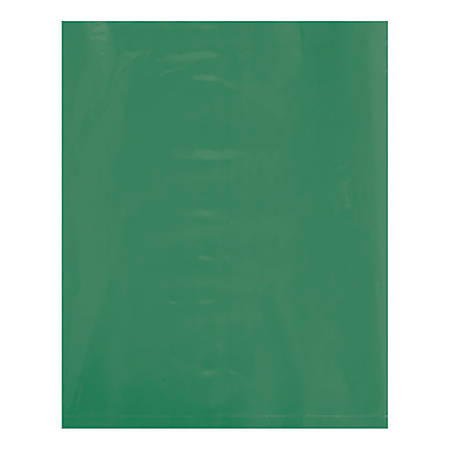 "Office Depot® Brand Flat Poly Bags, 12"" x 15"", Green, Pack Of 1,000"