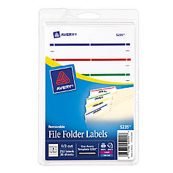 Avery Removable File Folder Labels 5235