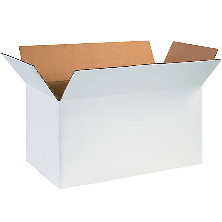 """Office Depot® Brand White Corrugated Cartons, 24"""" x 12"""" x 12"""", Pack Of 25"""