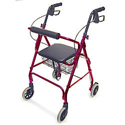 DMI Freedom Adjustable Aluminum Rollator Walker