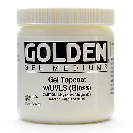 Golden Digital Mixed Media Gel Topcoat With UVLS, Gloss, 8 Oz