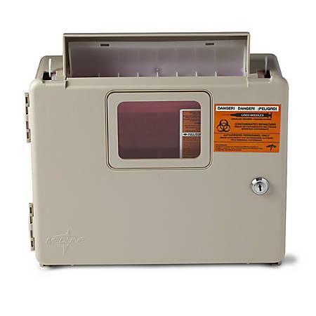 Medline Sharps Container Cabinet, 5 Qt, Tan