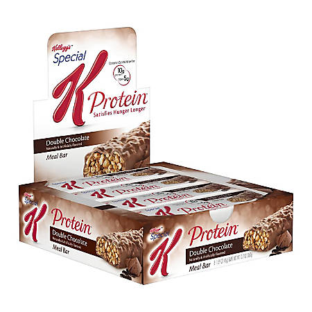 Special K Protein Meal Bar Double Chocolate, 1.59 oz, 8 Count, 2 Pack