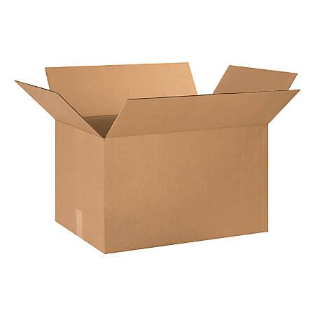 "Office Depot® Brand Corrugated Cartons, 24"" x 16"" x 14"", Kraft, Pack Of 15"