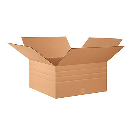"Office Depot® Brand Multi-Depth Corrugated Cartons, 12"" x 24"" x 24"", Kraft, Pack Of 10"