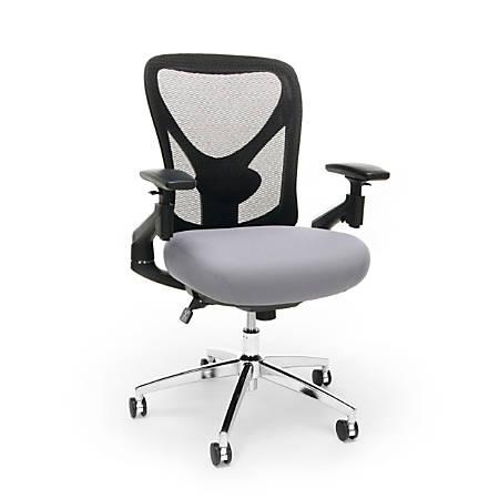 OFM Stratus High-Back Chair, Gray/Black/Chrome