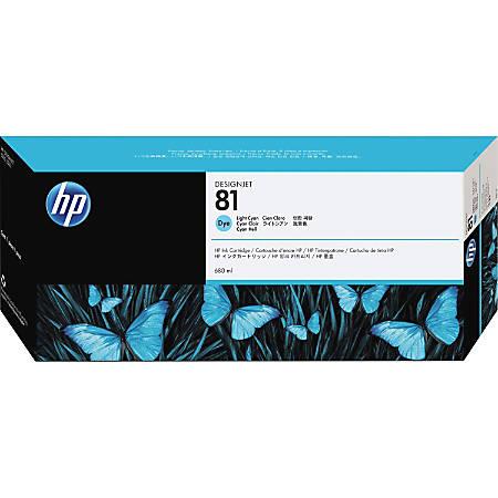 HP 81, Light Cyan Dye Ink Cartridge (C4934A)