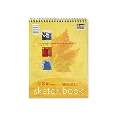 "Pacon® Art1st Sketch Book, 9"" x 12"", 30 Sheets, White"