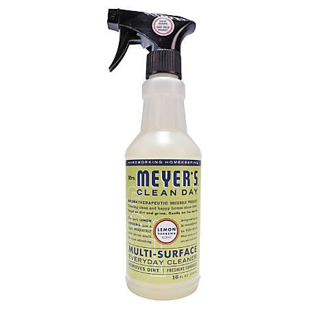 Mrs. Meyer's Multipurpose Cleaner, Lemon Scent, 16 Oz, Carton Of 6 Bottles