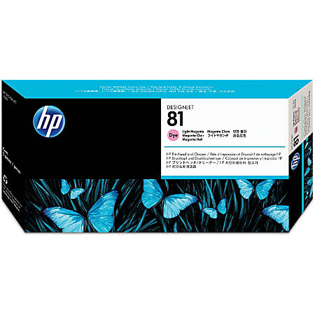 HP 81 (C4955A) Light Magenta Printhead & Printhead Cleaner